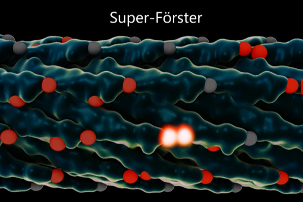 A rendering of a Super-Forster virus