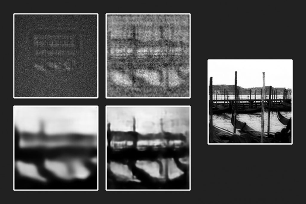 various stages of the image reveal