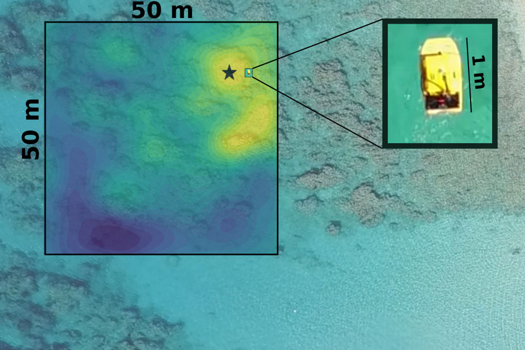 mapping off the coast of Barbados