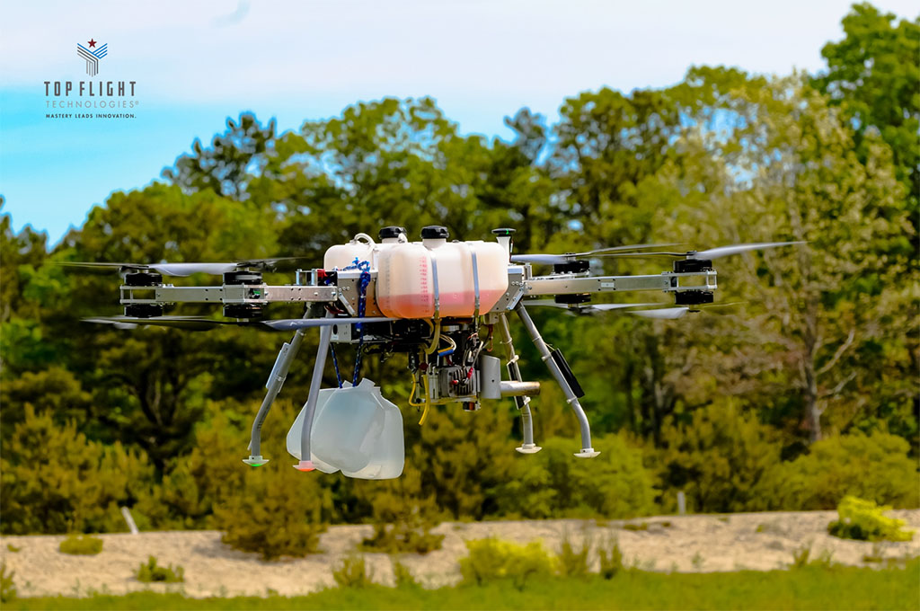 hybrid gas-to-electric drone