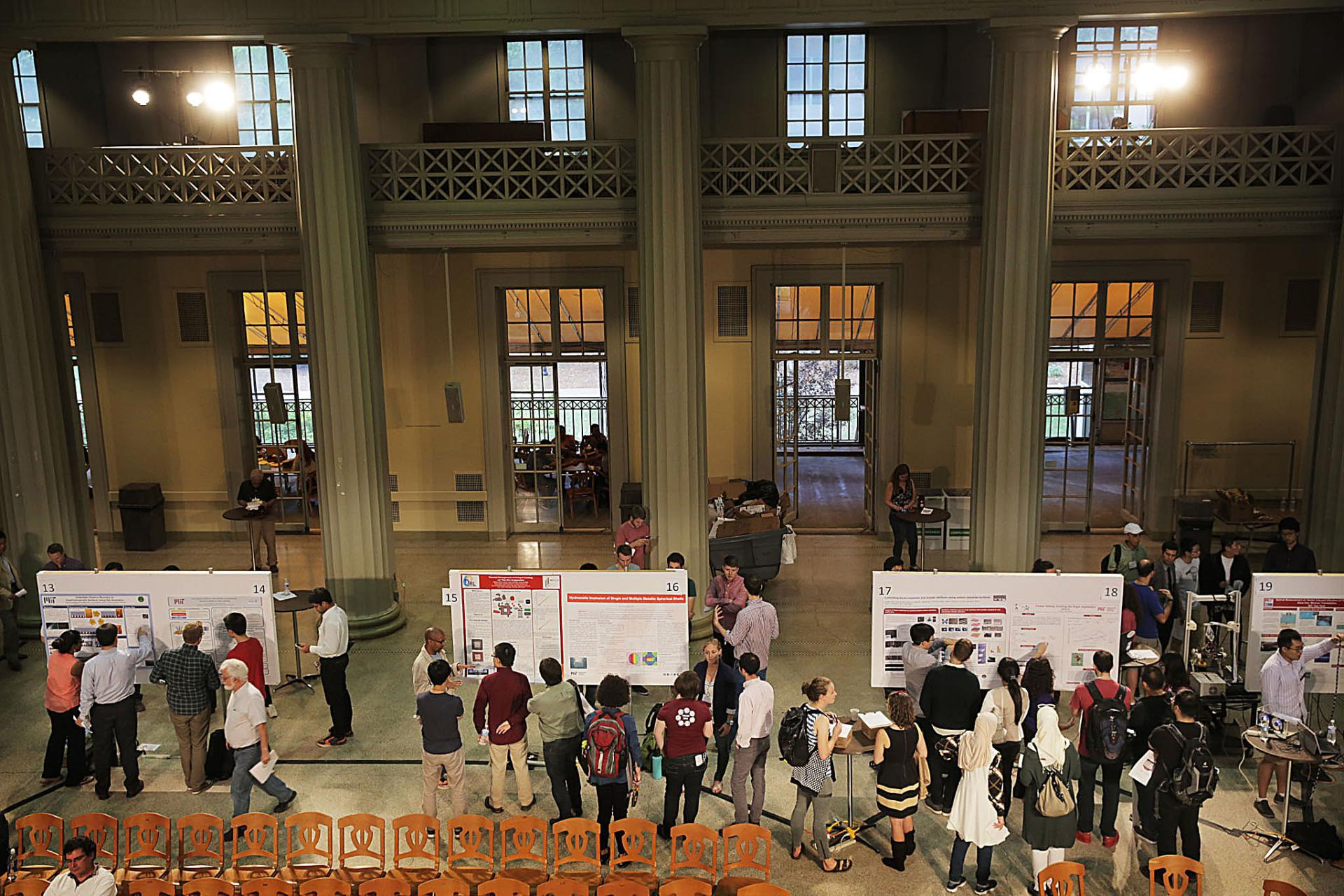 The 3rd annual  Mechanical Engineering Research Exhibition, hosted by the Graduate Association of Mechanical Engineers (GAME), highlights 92 research projects across all MechE's research areas.