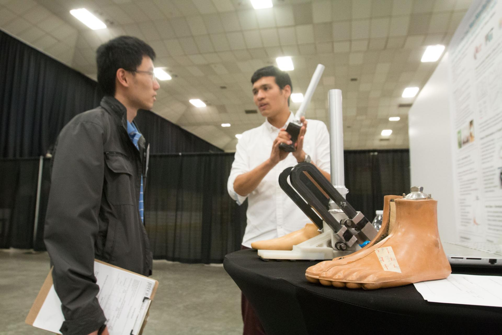 The 4rd annual  Mechanical Engineering Research Exhibition, hosted by the Graduate Association of Mechanical Engineers (GAME), showcases and celebrates the research within MechE.