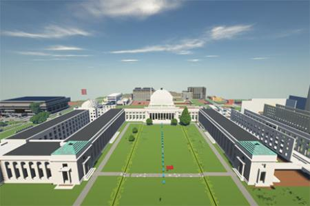 Building and reconnecting MIT in Minecraft