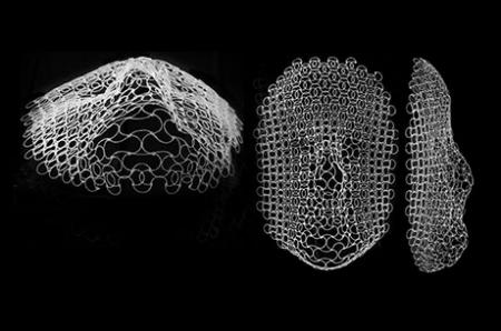 This flat structure morphs into shape of a human face when temperature changes