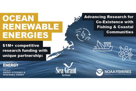 Sea Grant, DOE, NOAA Fisheries partner to invest $1M+ to support research for the co-existence of ocean energy with Northeast fishing and coastal communities
