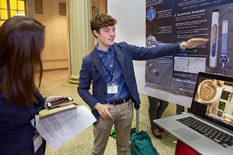 At fifth annual Mechanical Engineering Research Exhibition, graduate students showcase their solutions for global problems