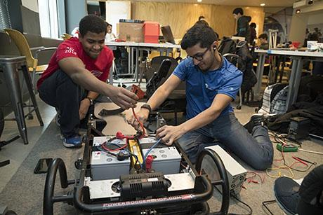 Students build assistive technologies for people living with disabilities at 2018 ATHack