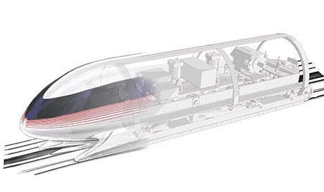 The MIT Hyperloop team unveils its mag-lev pod ahead of the final competition.