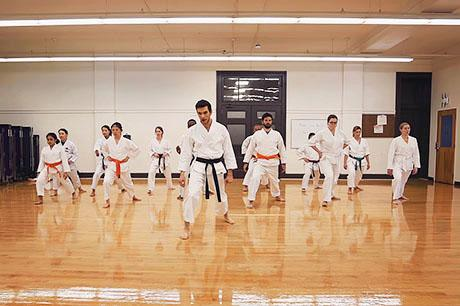 Graduate student Vazrik Chiloyan finds release in practicing the art of karate