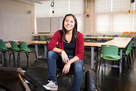 Senior Sade Nabahe's time at MIT has been defined by engineering projects that help people around the globe.