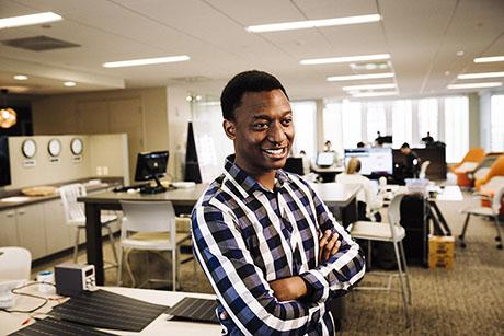 Graduate student Prosper Nyovanie wants to power off-grid communities worldwide with scalable solar electric systems