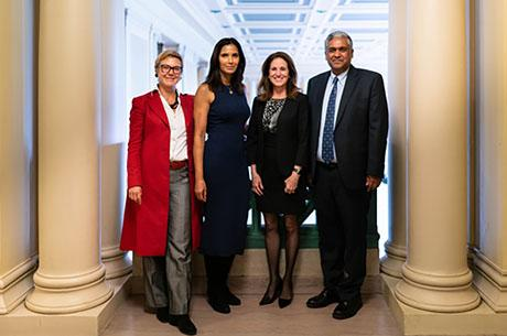 Professor Linda Griffith welcomes women's health advocate and Top Chef host Padma Lakshmi to MIT
