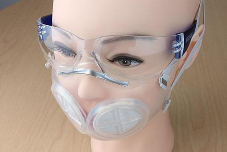Engineers design a reusable, silicone rubber face mask with N95 filters