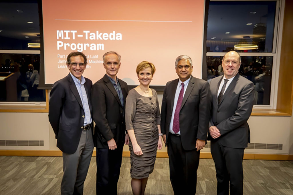 Five Takeda Program Members Standing In Front of the Takeda Program Launch Event