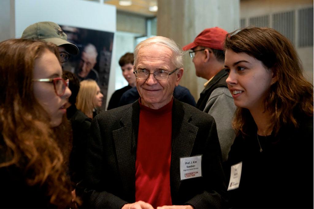 J. Kim Vandiver with students