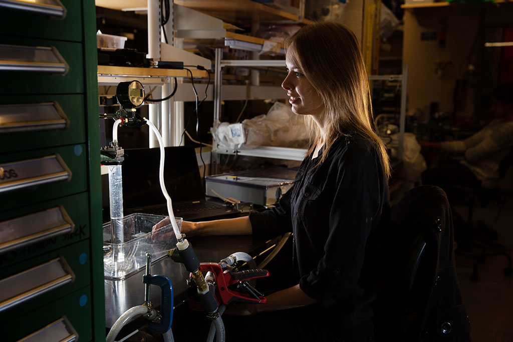 Julia Sokol in her lab