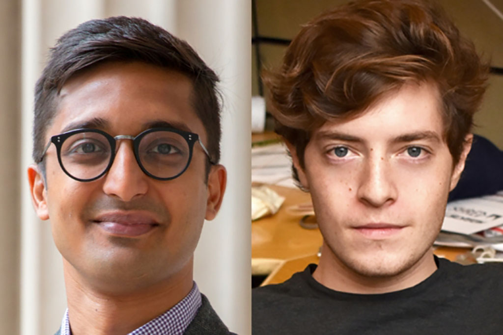 Sahil Shah (left) and Peter Godart