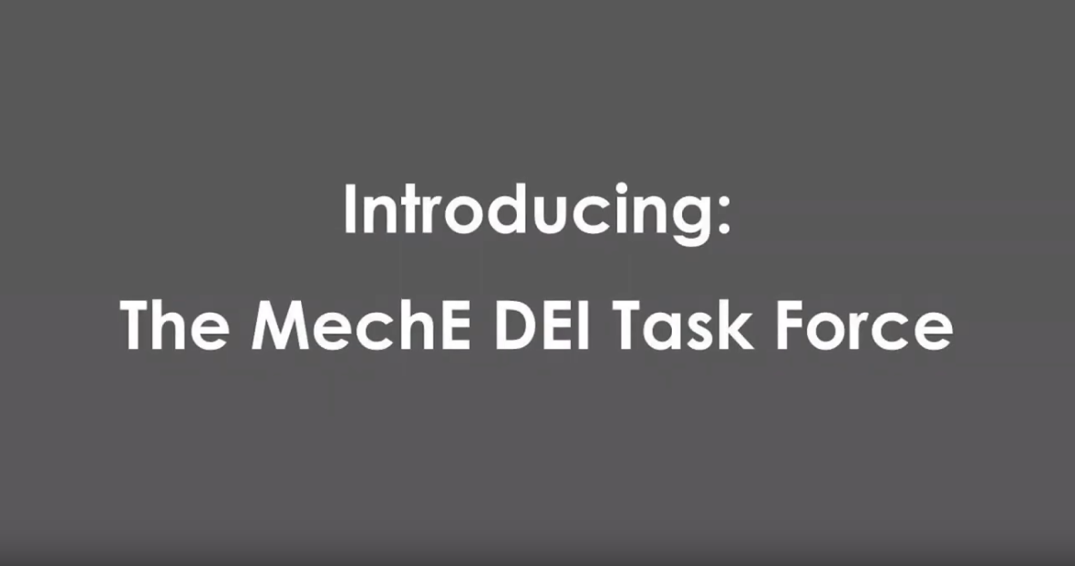 Introduction to the MechE DEI