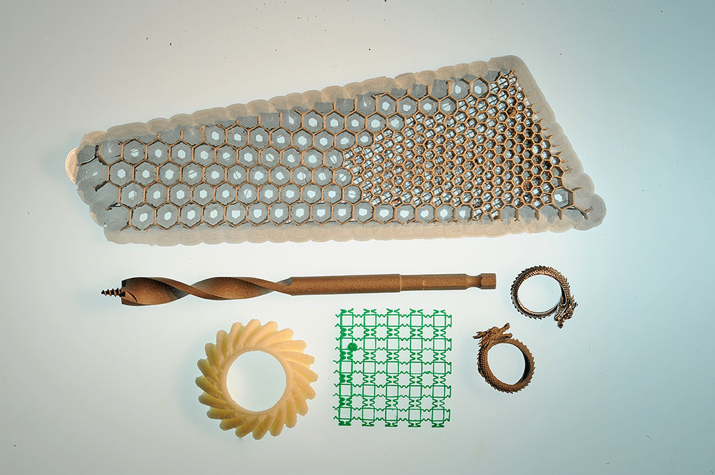 Various 3D printed objects