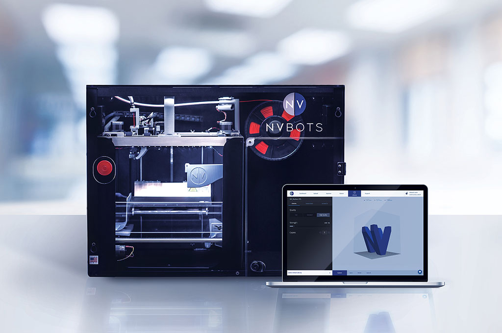 fully automated commercial 3-D printer