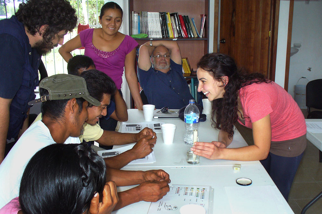A MIT team holding a training sessions in Mexico