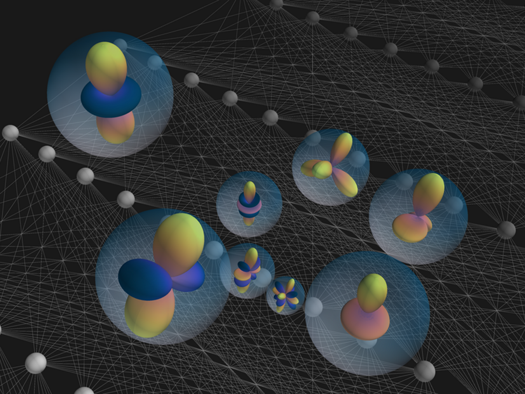 Illustration of A neural network that carries the full crystal symmetry