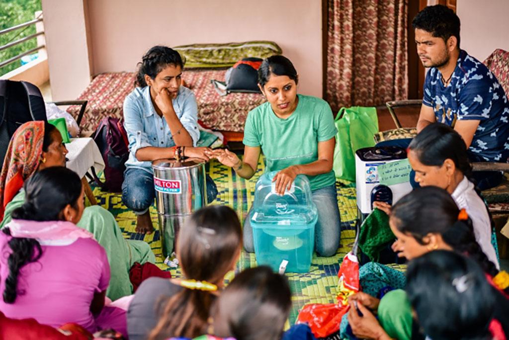 Megha Hegde speaking in India