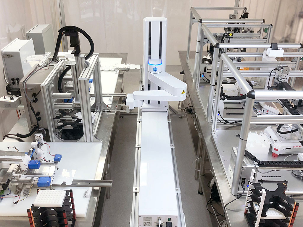 Multiply Labs is using robotic manufacturing platforms to create customized drug capsules for pharmaceutical companies and is expanding in cell therapy production.