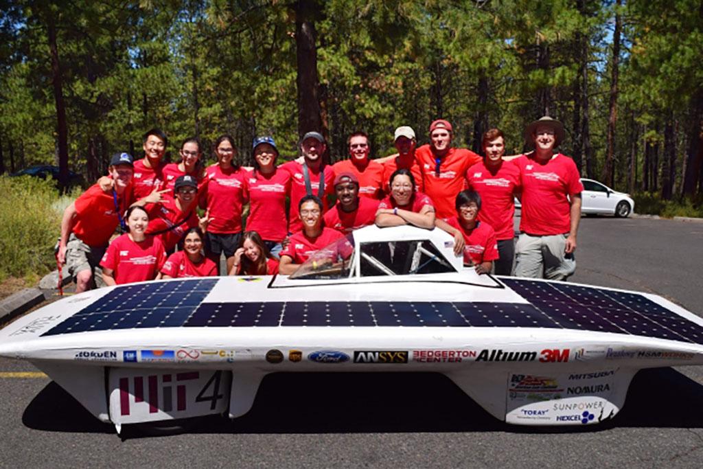 Solar car team photo