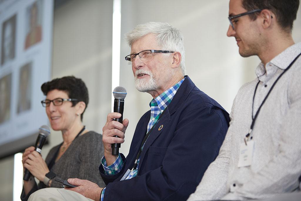 Tim Gutowski on a panel