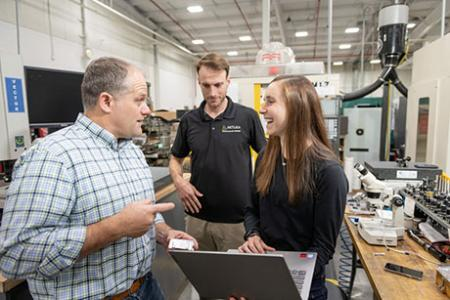 From triathlons to aerospace, Caitlin Braun MBA '21, SM '21 pursues passions for leadership and manufacturing