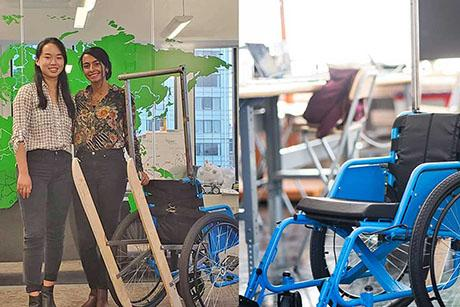 MechE team wins grant at 2020 IDEAS Awards Ceremony for wheelchair attachment
