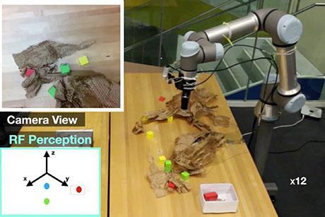 A robot that senses hidden objects