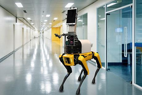 Robot takes contact-free measurements of patients' vital signs